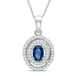 Circle Style Pendant Necklace Sri Lanka Sapphire D